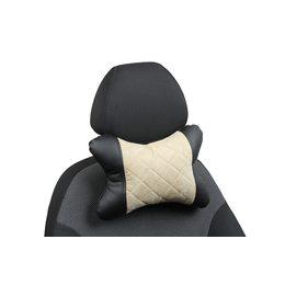 Подушка под шею из алькантары в ромб