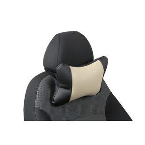 Подушка под шею из экокожи