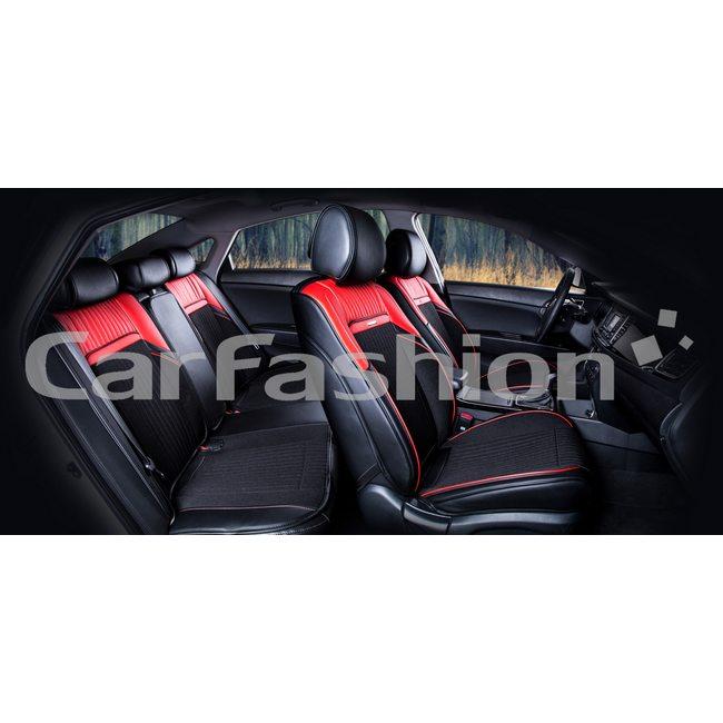 3D комплект автомобильных накидок на сиденья из экокожи с твидом Arsenal Premium Plus