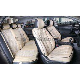 3D Комплект каркасных автомобильных накидок на сиденья из экокожи Balaton Plus Premium
