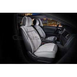 3D Каркасные автомобильные накидки на передние сиденья из велюра Barcelona Premium цвет: Серый