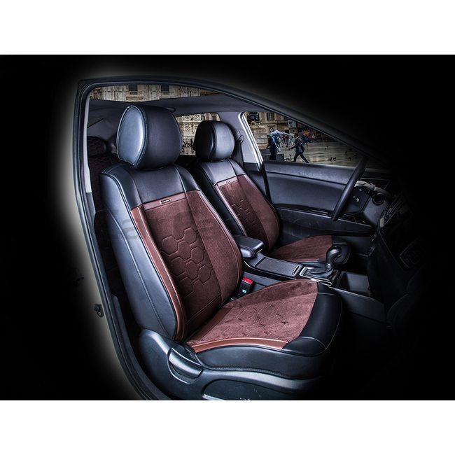 3D Каркасные автомобильные накидки на передние сиденья из велюра Evolution Premium