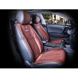 Автомобильные накидки на передние сиденья из экокожи с капроном Torino