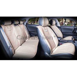 Комплект автомобильных накидок на сиденья из экокожи с капроном Torino Plus