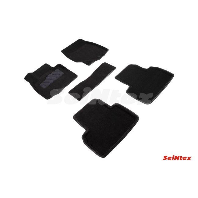 3D ворсовые коврики для INFINITI  QX50 рест (2015-2017) Черные