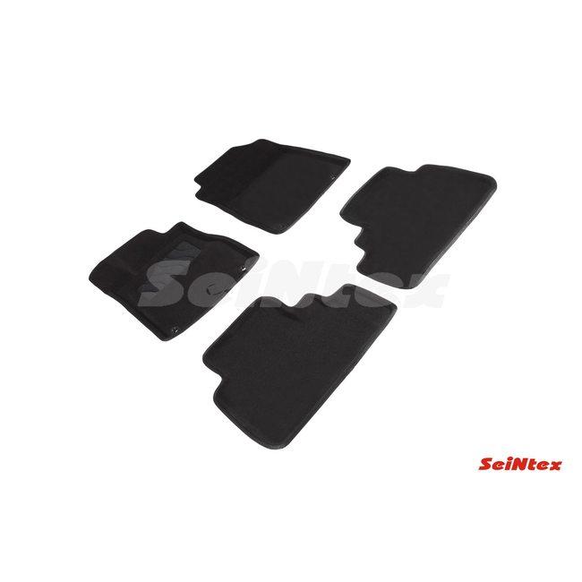 3D ворсовые коврики для HONDA CR-V IV (2012-2016) Черные