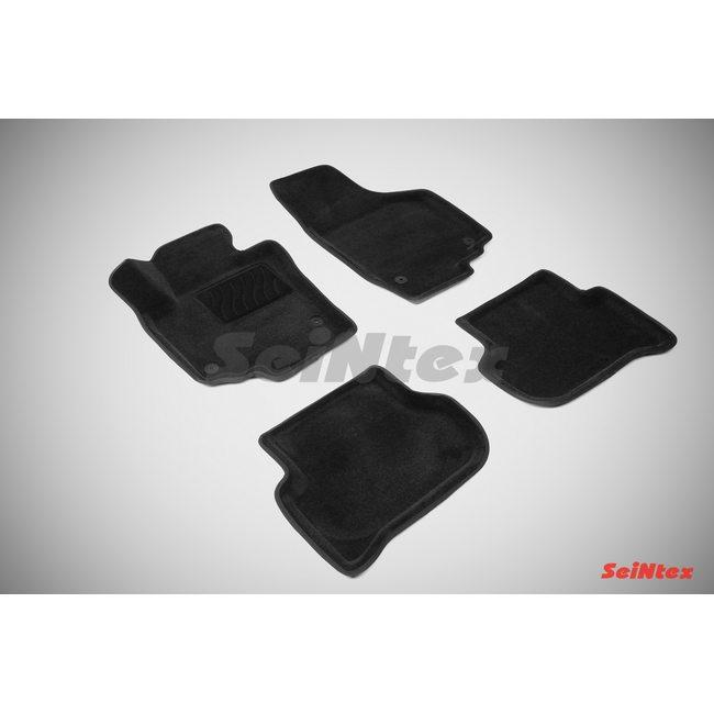 3D ворсовые коврики для SKODA YETI (2008-) Черные
