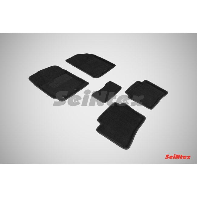 3D ворсовые коврики для KIA RIO (2011-) Черные