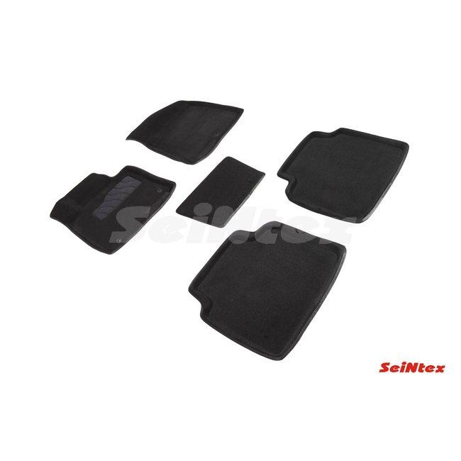 3D ворсовые коврики для KIA Optima IV (2014-) Черные