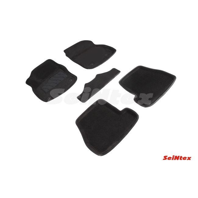 3D ворсовые коврики для KIA SORENTO  (2013-) Черные