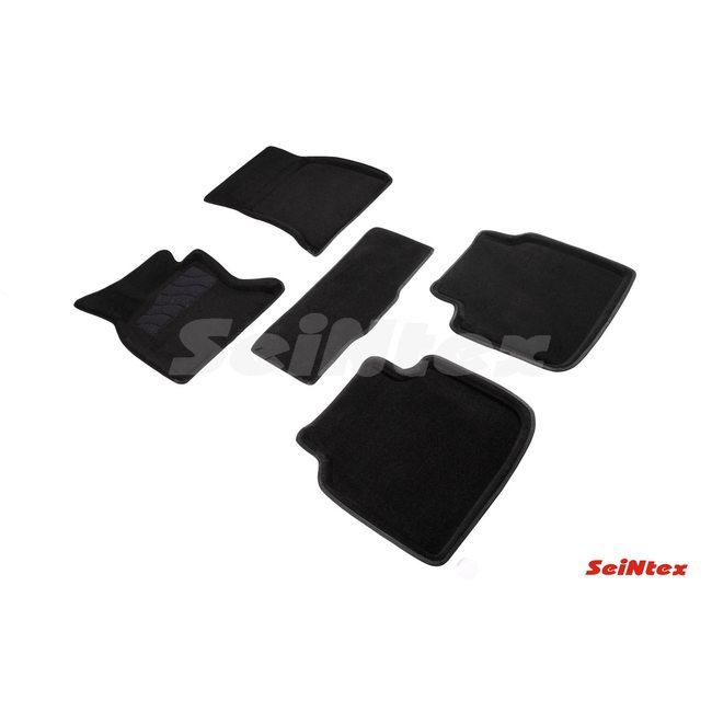 3D ворсовые коврики для BMW 7 Ser F-02 (2008-2015) Черные