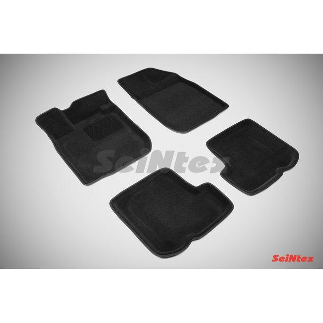 3D ворсовые коврики для RENAULT SANDERO (2010-) Черные