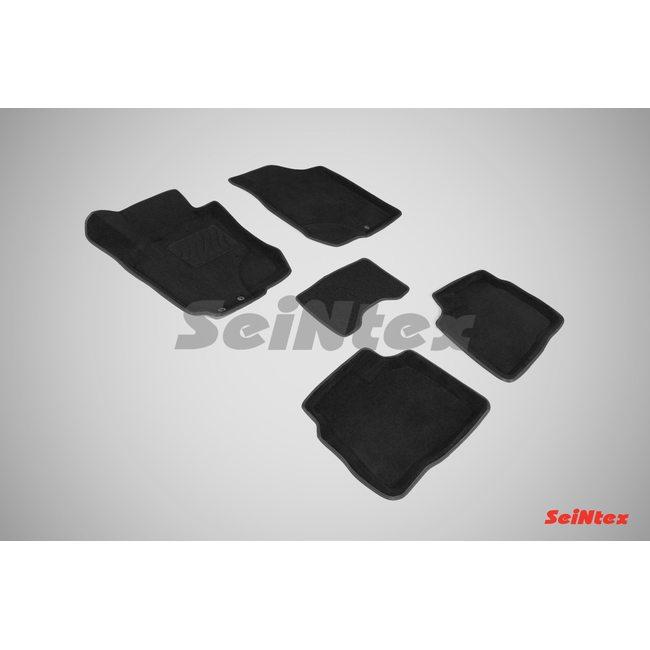3D ворсовые коврики для HYUNDAI i30 (2009-2012) Черные