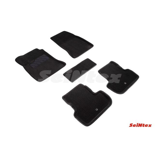 3D ворсовые коврики для INFINITI  Q30/QX30 (2015-н.в.) Черные