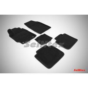 3D ворсовые коврики для TOYOTA CAMRY VII (2012-) Черные