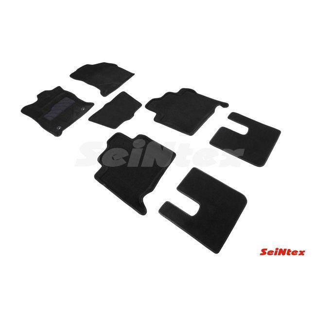 3D ворсовые коврики для TOYOTA FORTUNER II (2017-) Черные