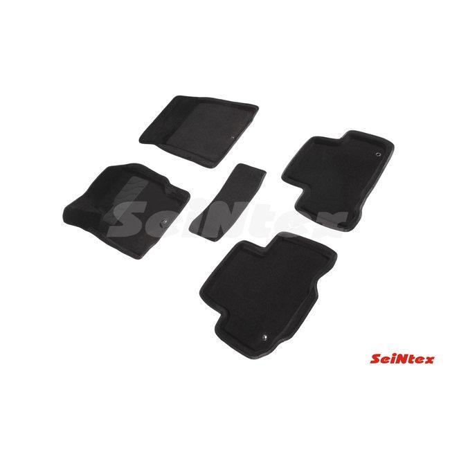 3D ворсовые коврики для SSANG YONG REXTON (2012-) Черные