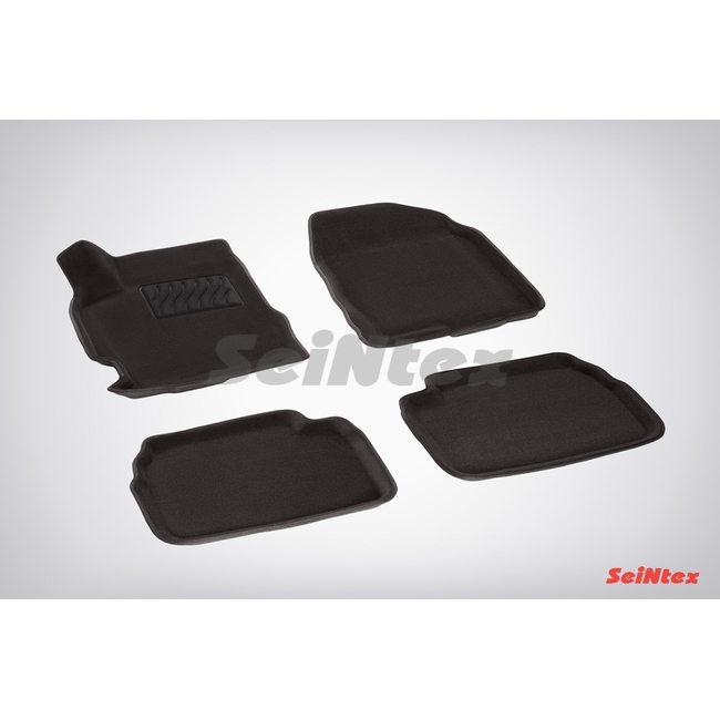 3D ворсовые коврики для MAZDA 3 (2009-2013) Черные