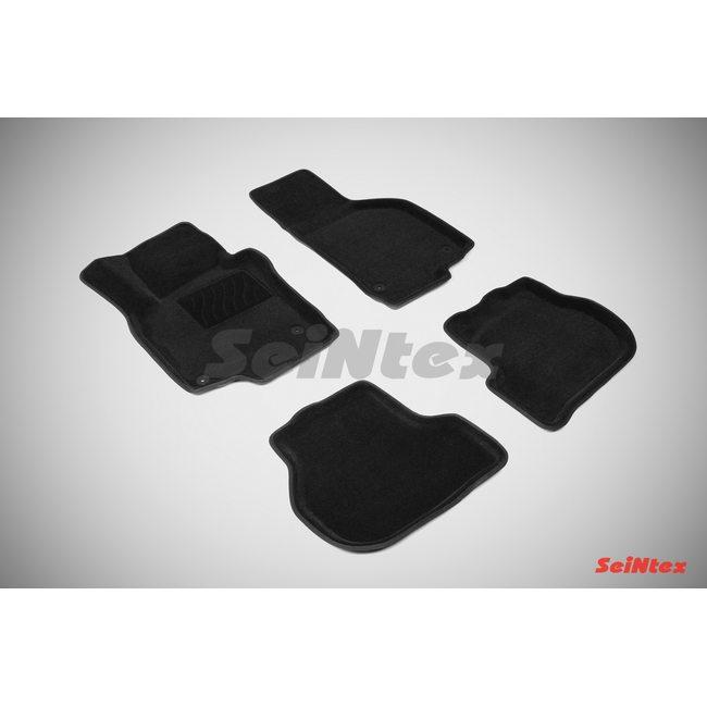 3D ворсовые коврики для VOLKSWAGEN GOLF VI,V,JETTA (2003-2012) Черные
