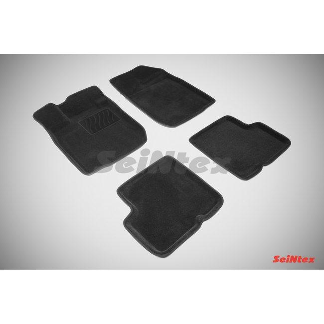 3D ворсовые коврики для RENAULT LOGAN (2004-) Черные