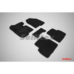 3D ворсовые коврики для HYUNDAI ix35 (2010-2015) Черные