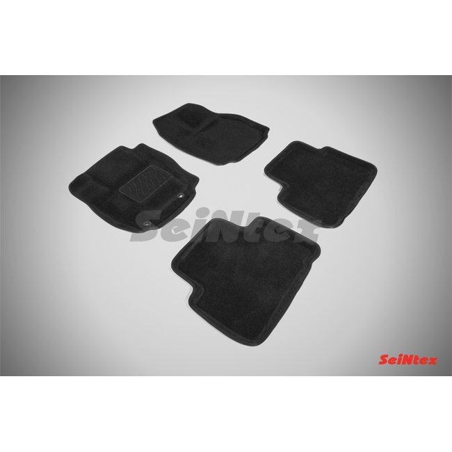 3D ворсовые коврики для FORD S-MAX (2006-2015) Черные