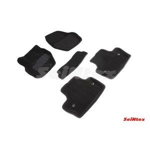 3D ворсовые коврики для VOLVO S-60 (2010-) Черные