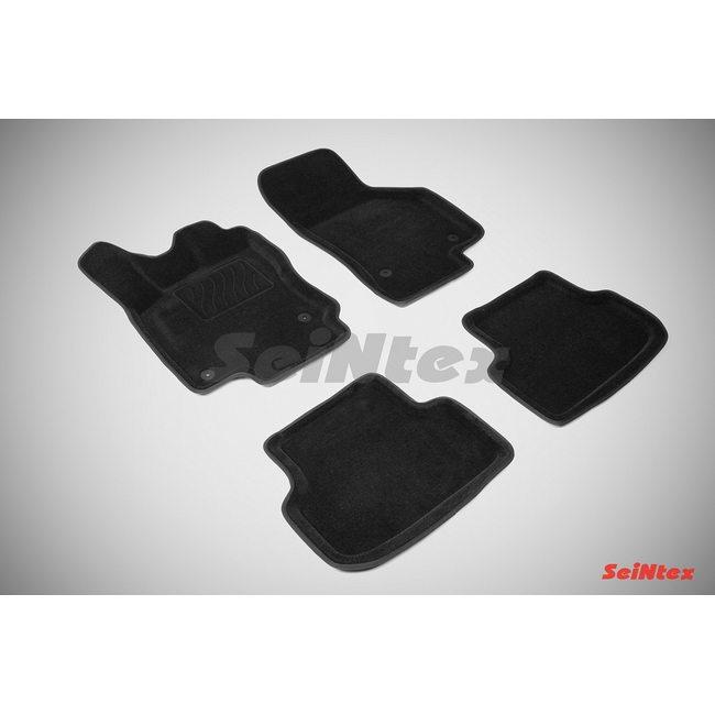 3D ворсовые коврики для SEAT Leon III (2013-) Черные