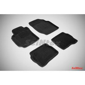 3D ворсовые коврики для NISSAN ALMERA classic (B10) (2006-2013) Черные