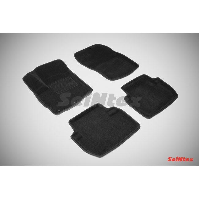 3D ворсовые коврики для TOYOTA LAND CRUISER PRADO150 (2009-2013) Черные