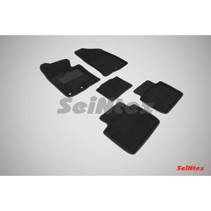 3D ворсовые коврики для KIA Optima III (2010-2015) Черные