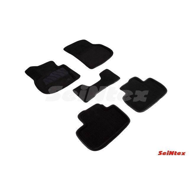 3D ворсовые коврики для BMW X4 G-02 (2018-) Черные