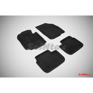 3D ворсовые коврики для FIAT Sedici (2006-) Черные