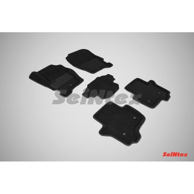 3D ворсовые коврики для MAZDA 3 (2013-) Черные