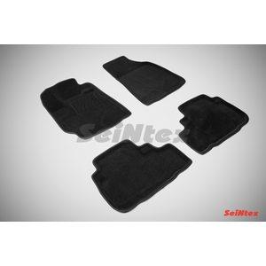 3D ворсовые коврики для TOYOTA HIGHLANDER II (2007-2014) Черные