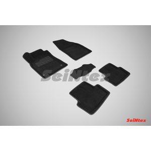 3D ворсовые коврики для RENAULT Megane III (2008-) Черные