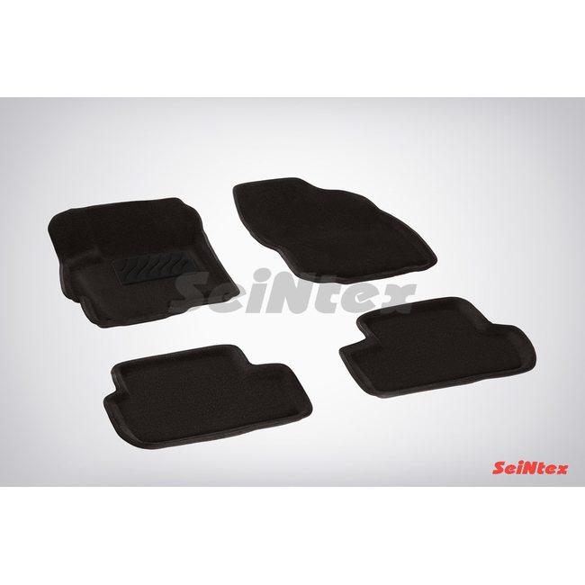 3D ворсовые коврики для MITSUBISHI LANCER X (2007-) Черные