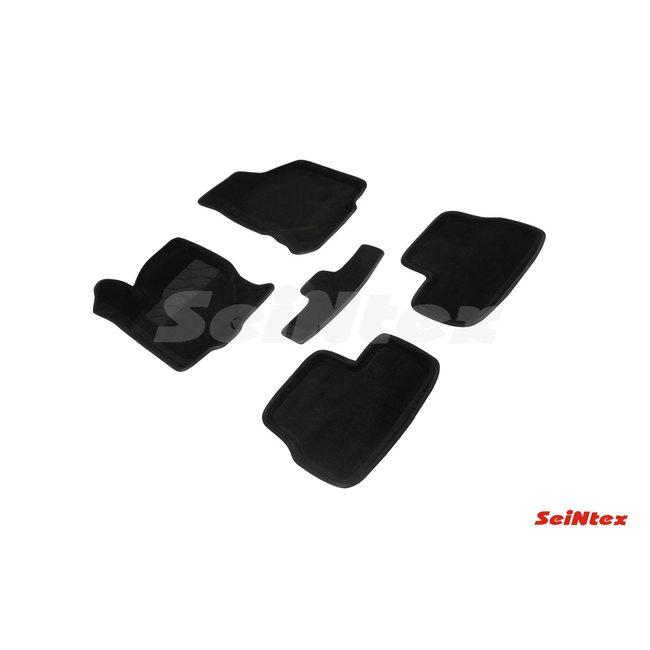 3D ворсовые коврики для DATSUN On-Do / Mi-Do (2014-) Черные