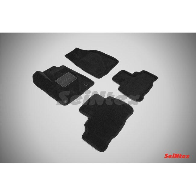 3D ворсовые коврики для TOYOTA HIGHLANDER III (2014-) Черные