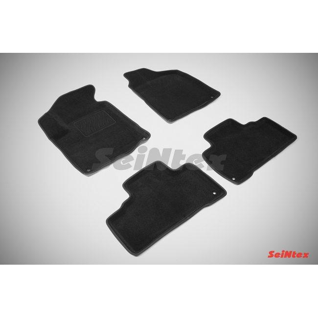 3D ворсовые коврики для SSANG YONG ACTYON new (2010-) Черные