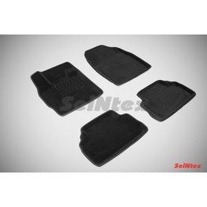 3D ворсовые коврики для MAZDA CX7 (2007-) Черные