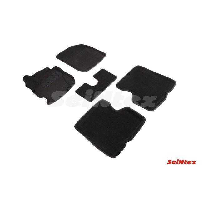 3D ворсовые коврики для RENAULT Kaptur 4WD (2016-) Черные