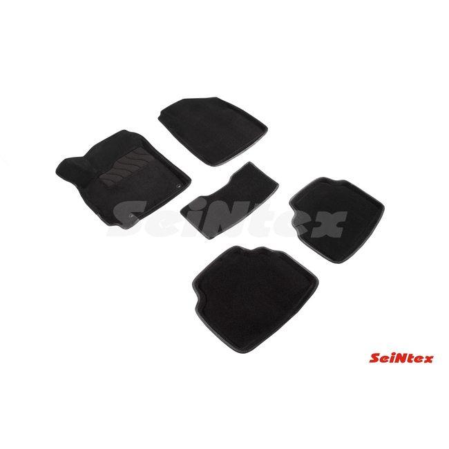 3D ворсовые коврики для KIA Seltos (2020-) Черные