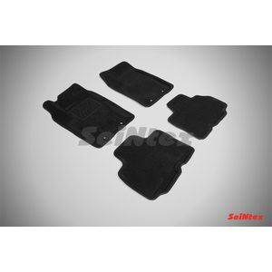 3D ворсовые коврики для SSANG YONG KYRON (2011-) Черные