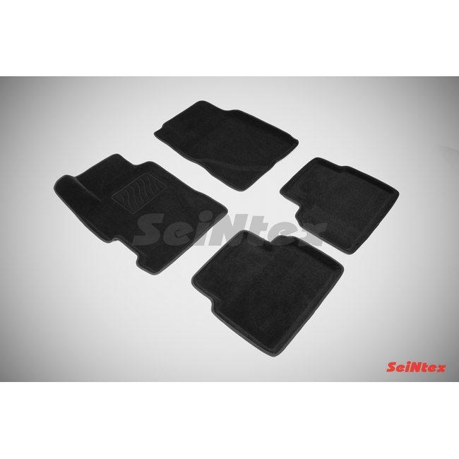 3D ворсовые коврики для HONDA CIVIC VIII SEDAN  (2006-2012) Черные