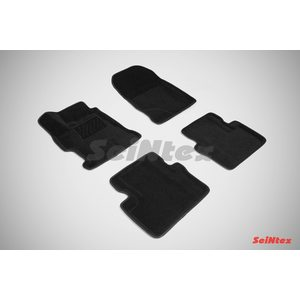 3D ворсовые коврики для HONDA CIVIC IX SEDAN (2012-) Черные