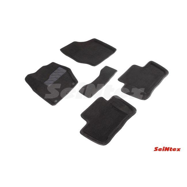 3D ворсовые коврики для PEUGEOT 408 (2012-) Черные