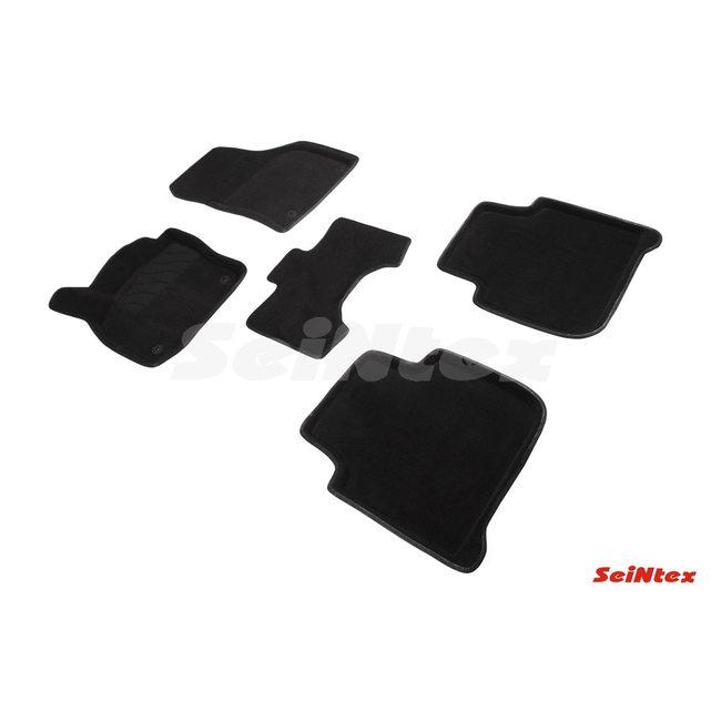 3D ворсовые коврики для SKODA Kodiaq (2016-) Черные