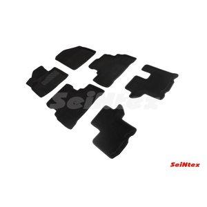 3D ворсовые коврики для KIA SORENTO Prime (2015-) Черные