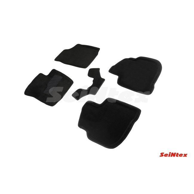 3D ворсовые коврики для SKODA Rapid rest (2017-) Черные